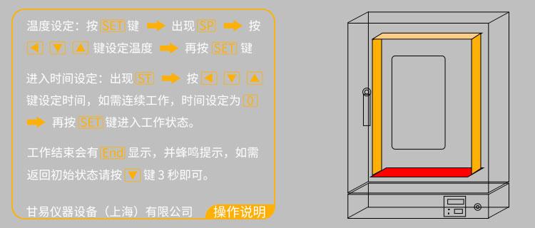 鼓风干燥箱温度设置方法_上海甘易
